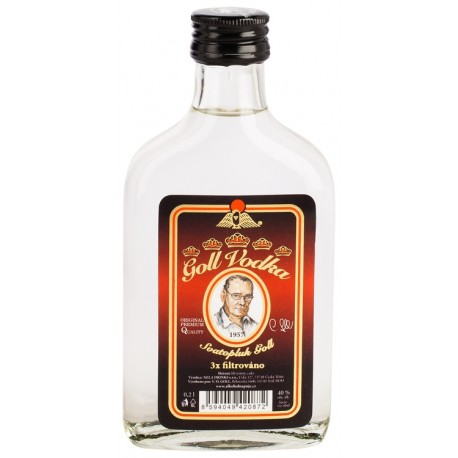 Vodka Goll 3 x filtrovaná 0,2L 40%
