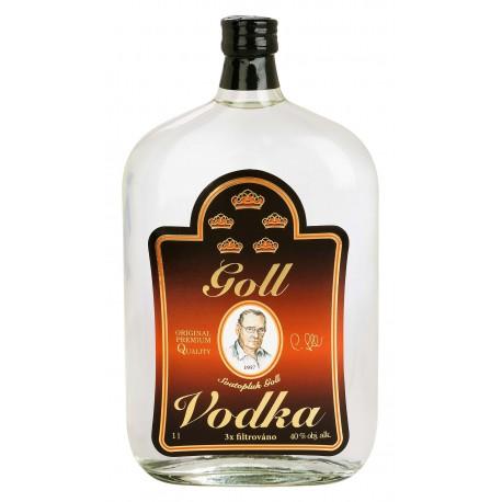 Vodka Goll 1l 40% - plochá